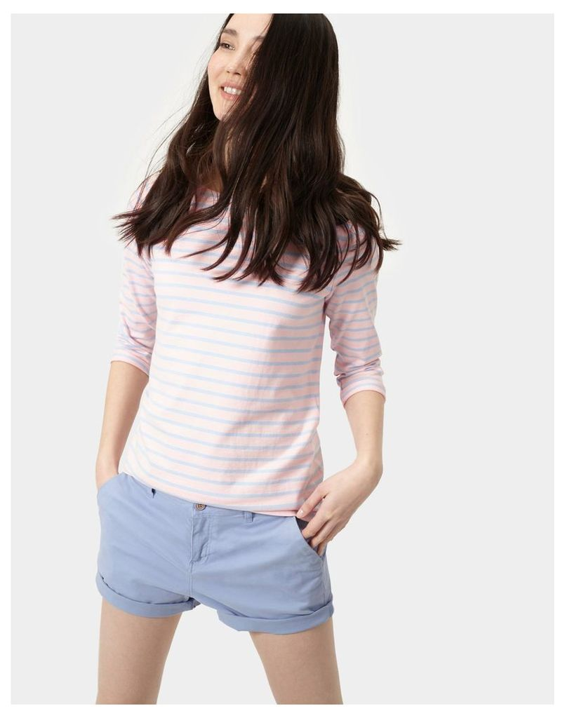 Soft Pink and Blue Stripe Harbour Jersey Top  Size 10 | Joules UK