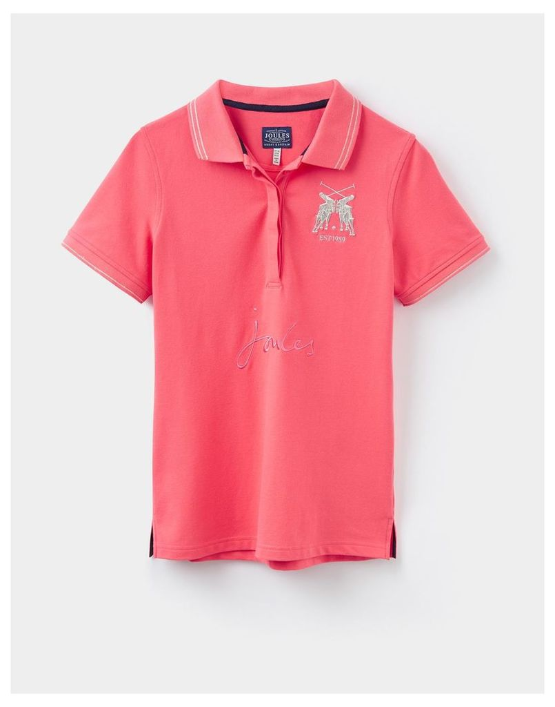 Soft Coral Amity Slim Fit Polo Shirt  Size 10 | Joules UK