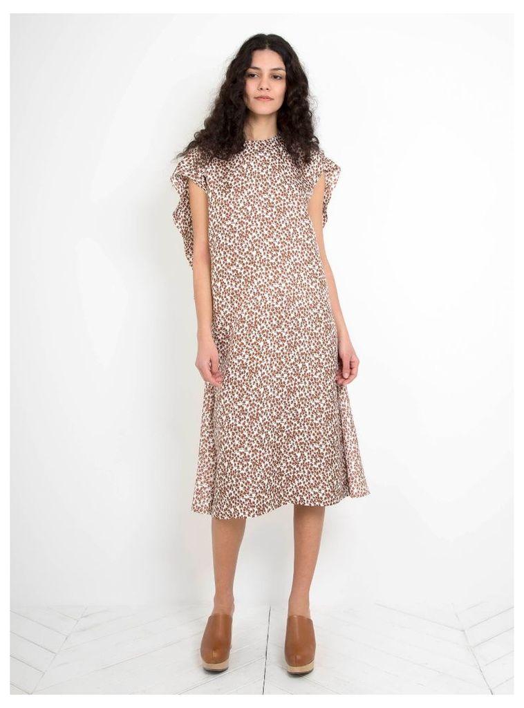 Louise Silk Smock Dress Tree Print
