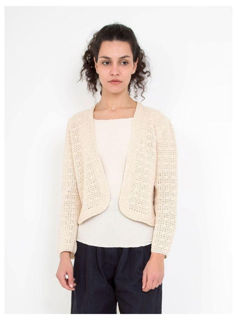 Crochet Fling Jacket Ivory