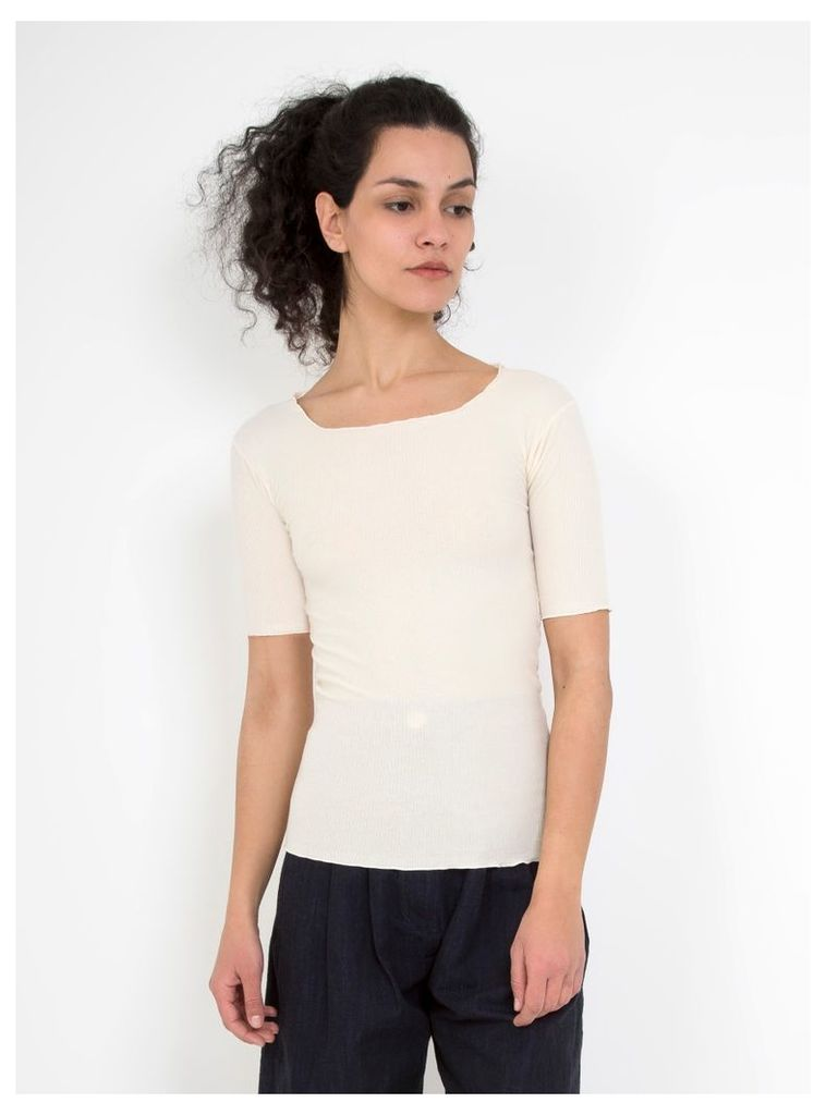 Pama 3/4 Rib T-Shirt Off White