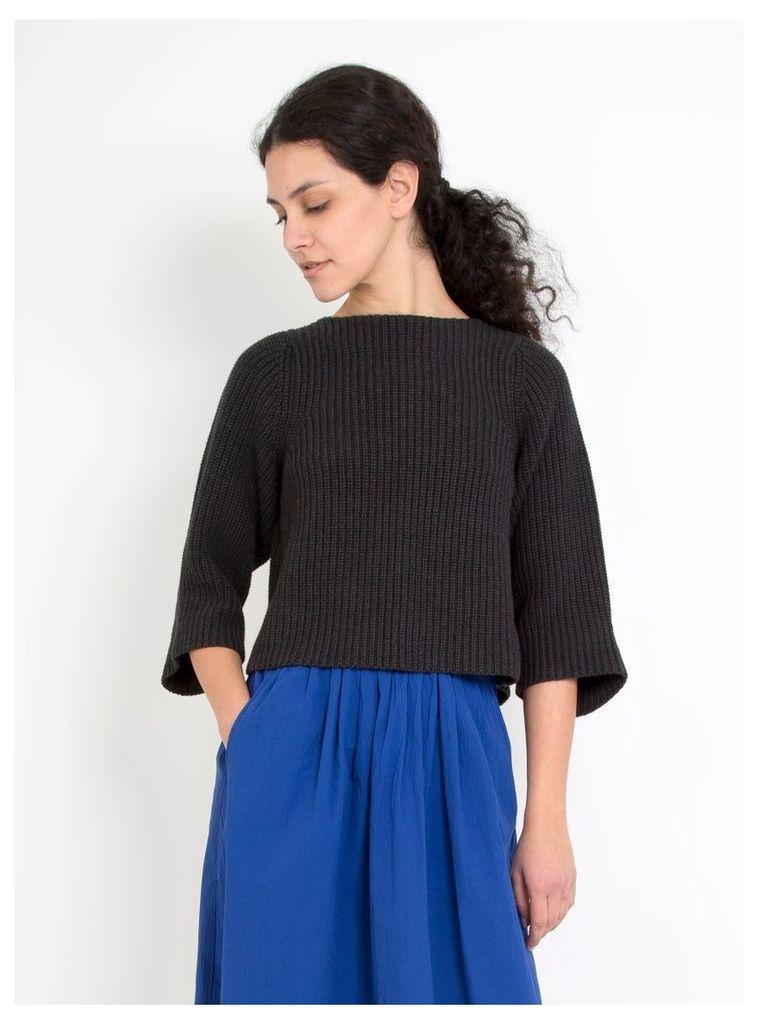 Birch Pima Cotton Pullover Melange Black