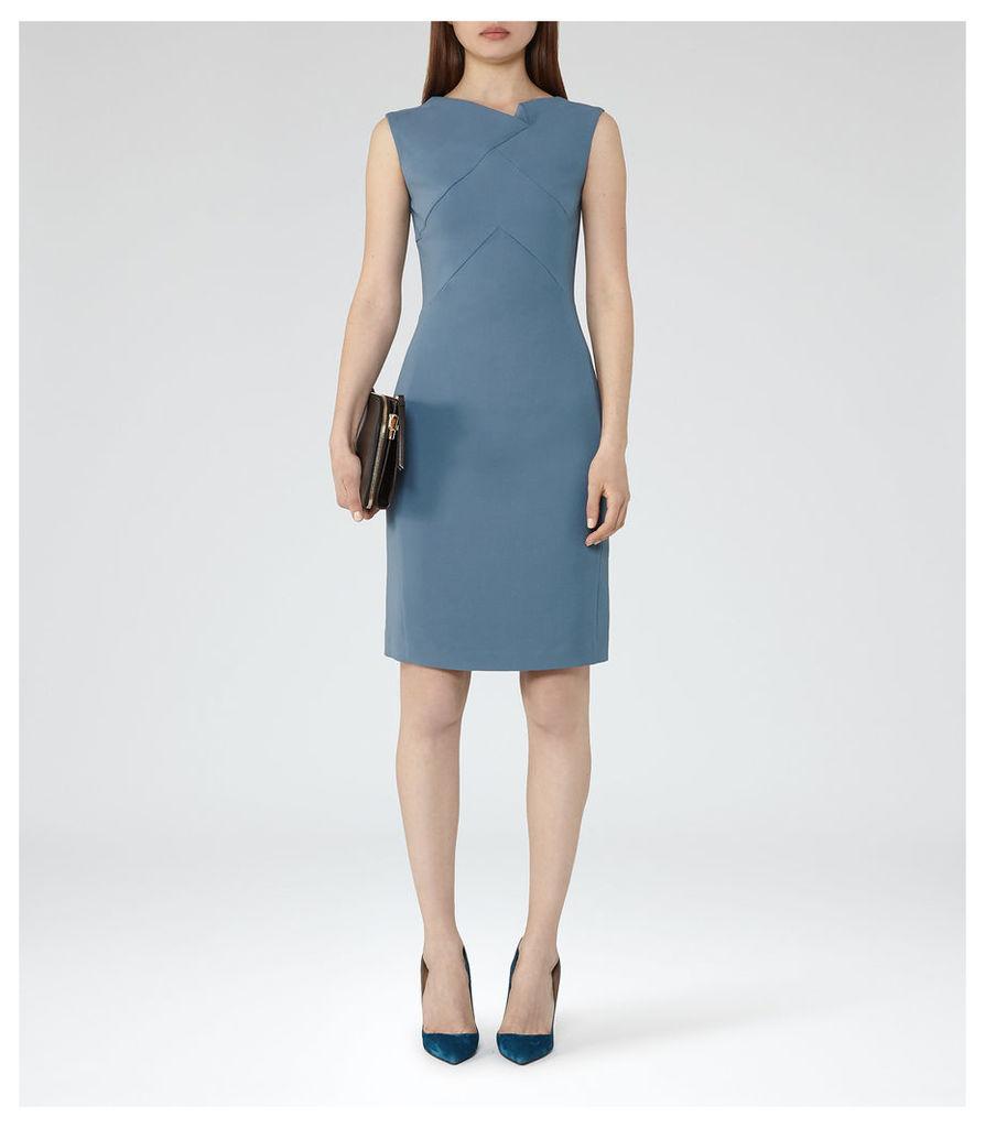REISS Aiken - Womens Tailored Dress in Blue