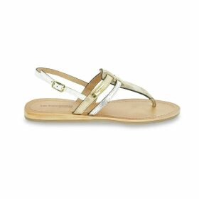 Baraka Leather Flat Sandals with Sling-Back