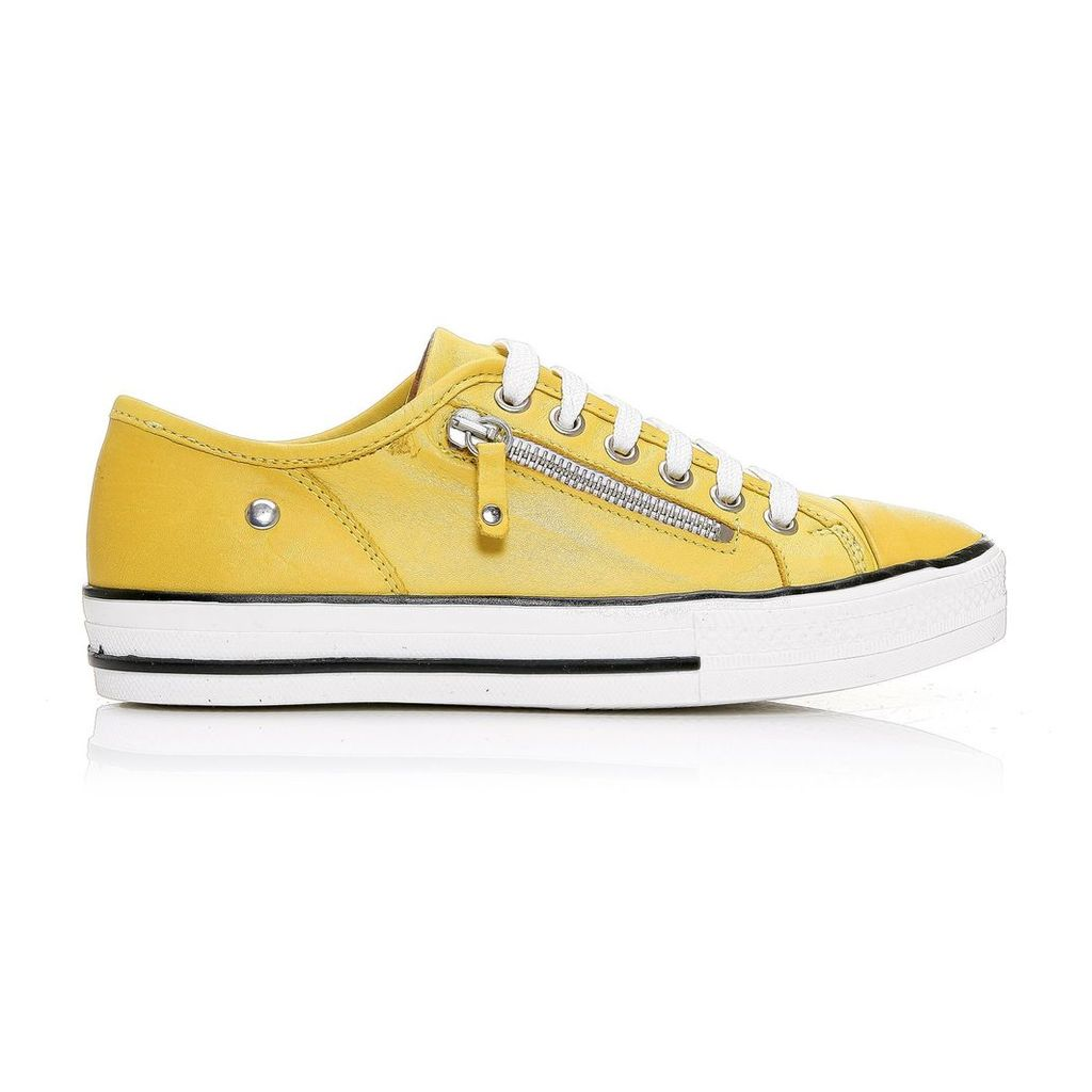 Moda in Pelle Fianntas Yellow Low Leisure Shoes