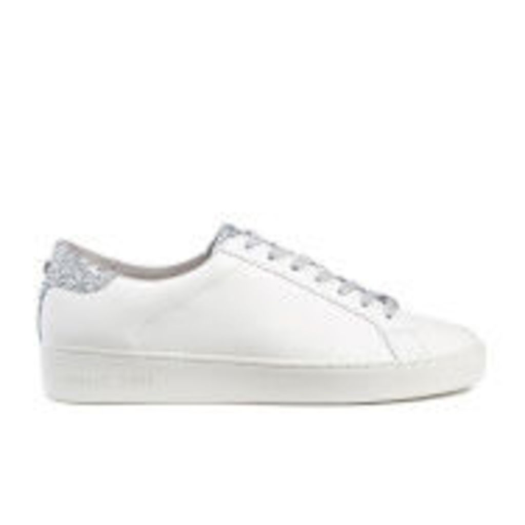 MICHAEL MICHAEL KORS Women's Irving Lace Up Court Trainers - Optic White/Silver - US 10/UK 8