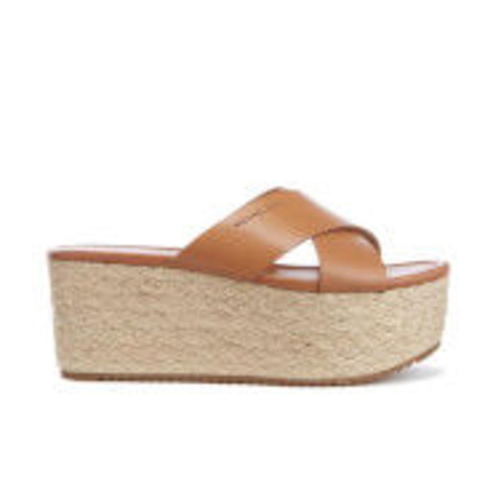 MICHAEL MICHAEL KORS Women's Vivianna Slide Wedged Sandals - Acorn - US 10/UK 8