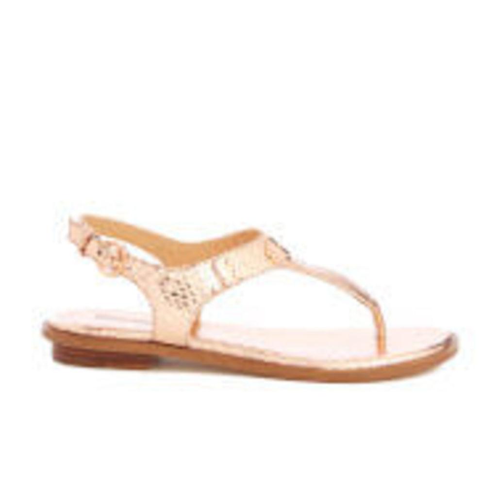 MICHAEL MICHAEL KORS Women's MK Plate Toe Post Sandals - Rose Gold - US 10/UK 8