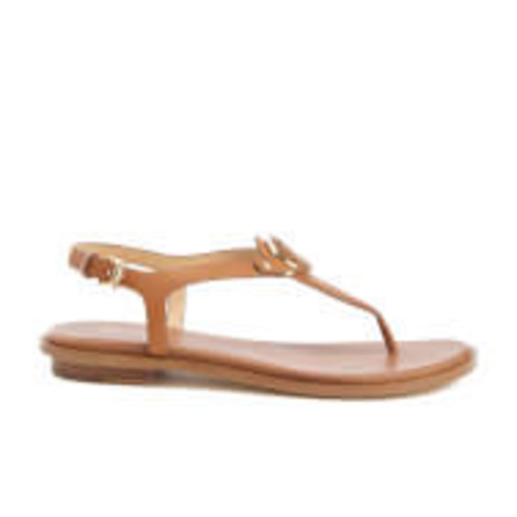 MICHAEL MICHAEL KORS Women's Lee Logo Front Toe Post Sandals - Acorn - US 10/UK 8