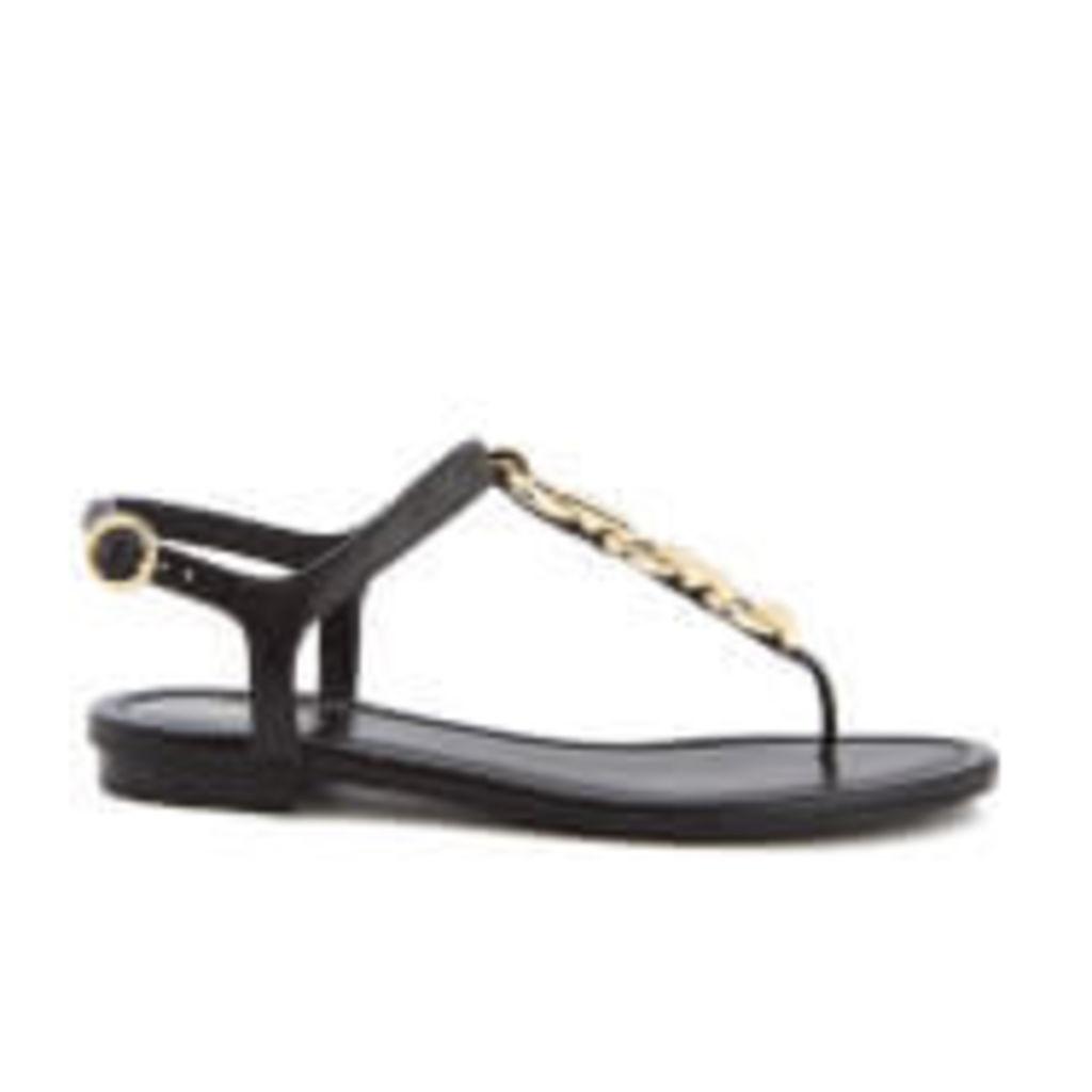 MICHAEL MICHAEL KORS Women's Mahari Toe Post Sandals - Black - US 10/UK 8