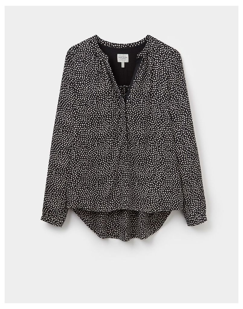 Soft Black Paint 124013 Womens Rosamund Shirt  Size 10 | Joules UK