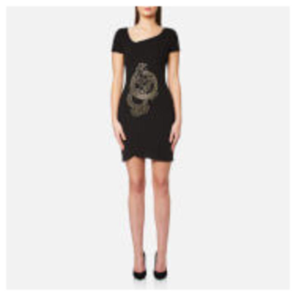 Versace Jeans Women's V Neck Dress - Black