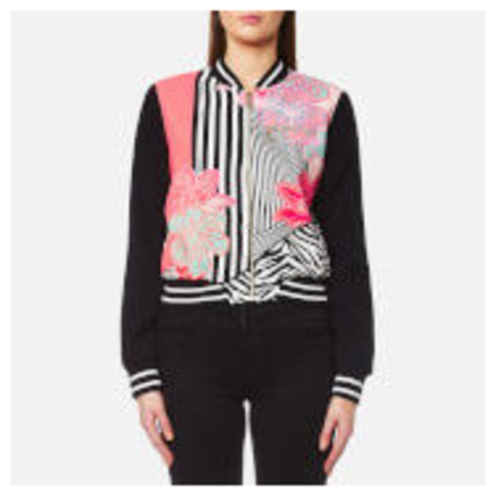 Versace Jeans Women's Printed Bomber Jacket - Shock Pink