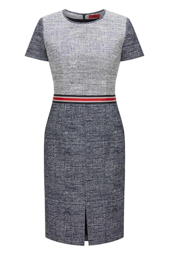 Regular-fit dress in cotton blend