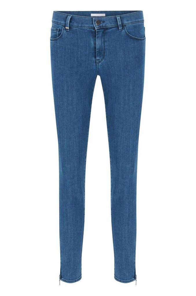 Slim-fit jeans in comfort-stretch denim