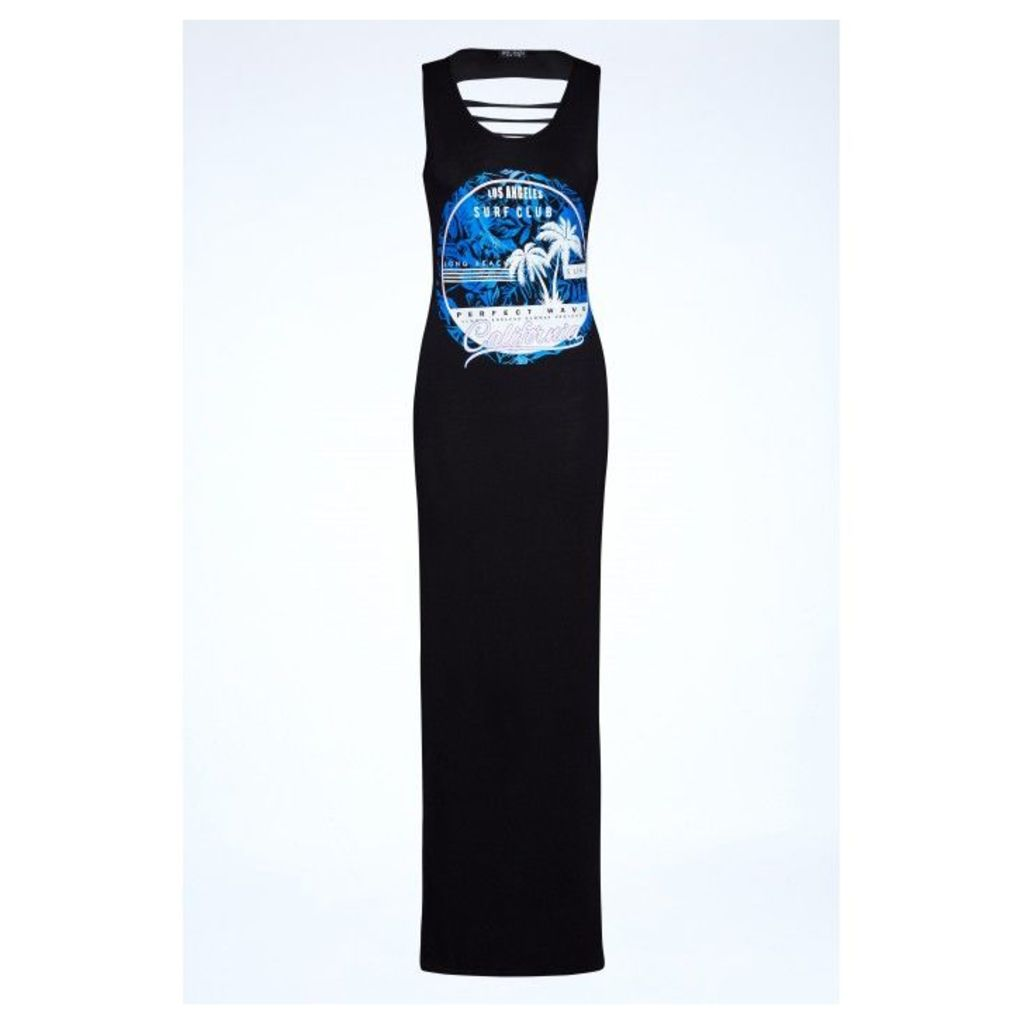 PALM BEACH GRAPHIC MAXI DRESS