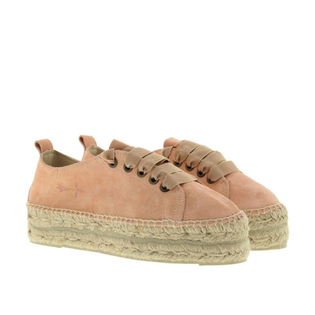 Manebi Espadrilles - Hamptons Suede Leather Pastel Rose - in rose - Espadrilles for ladies