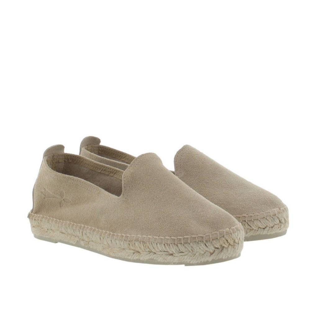 Manebi Espadrilles - Hamptons Suede Leather Espadrilles Champagne Beige - in beige - Espadrilles for ladies
