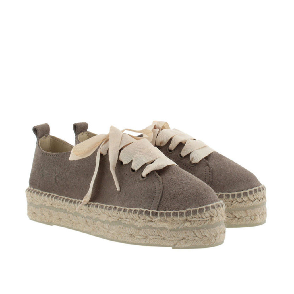 Manebi Espadrilles - Hamptons SNK Suede Leather Espadrilles Coco Brown - in brown - Espadrilles for ladies