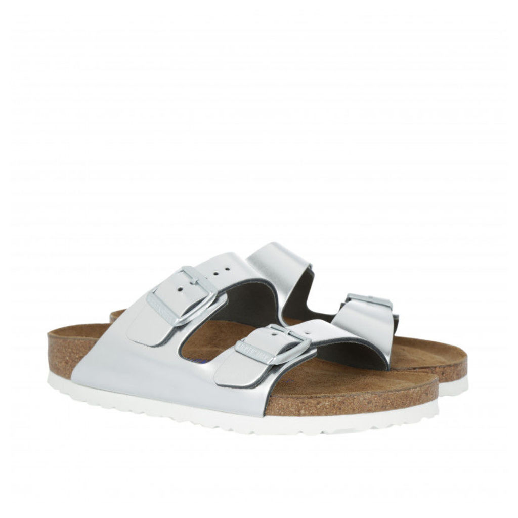 Birkenstock Sandals - Arizona BS Narrow Fit Sandal Silver - in silver - Sandals for ladies