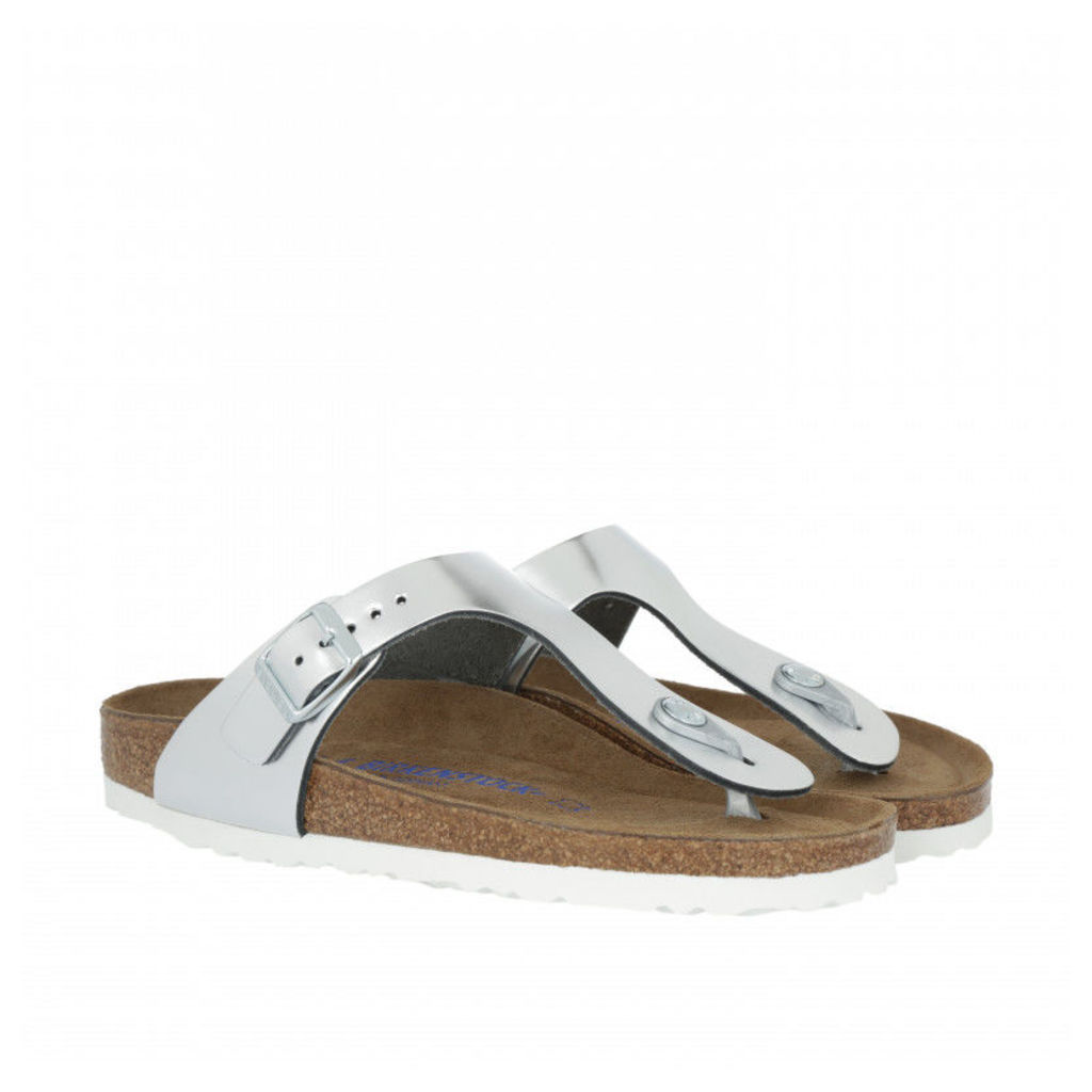 Birkenstock Sandals - Gizeh BS Narrow Fit Sandal Silver - in silver - Sandals for ladies