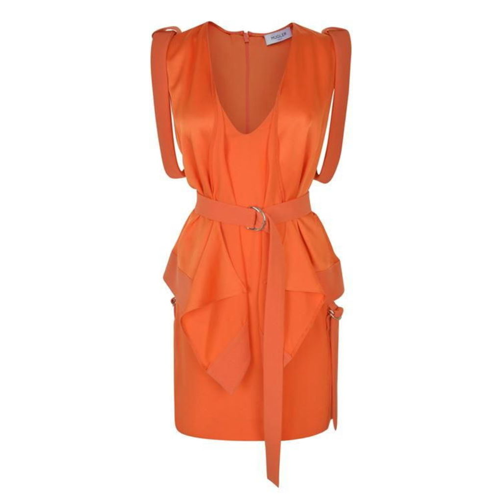 MUGLER Belted Mini Dress