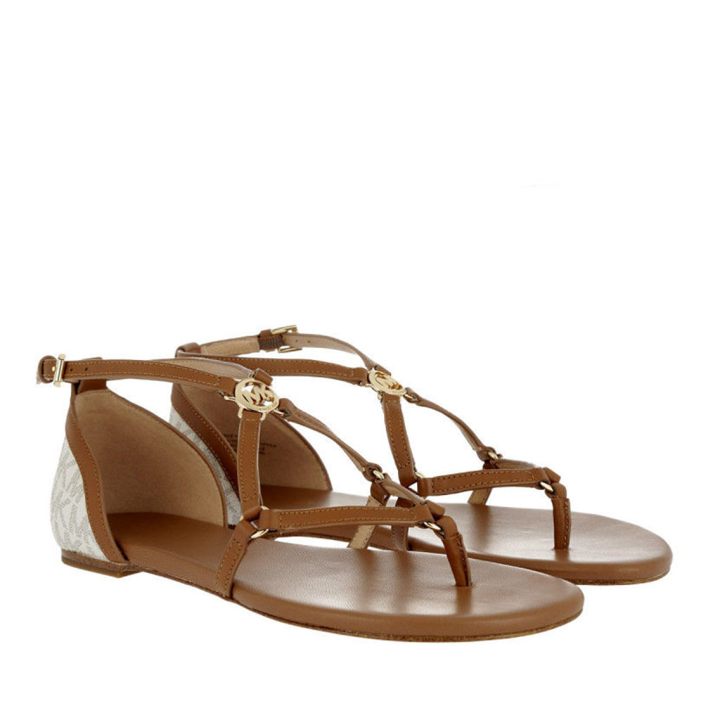 Michael Kors Sandals - Terri Flat Sandal Vanilla/ Acorn - in brown - Sandals for ladies