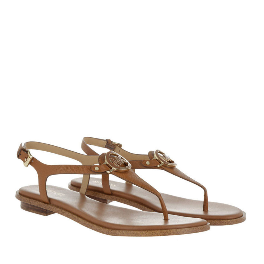 Michael Kors Sandals - Lee Thong Leather Sandal Acorn - in cognac - Sandals for ladies