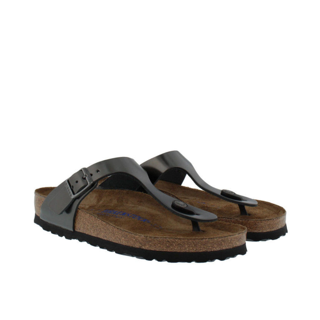Birkenstock Sandals - Gizeh BS Regular Fit Sandal Metallic Anthracite - in green - Sandals for ladies