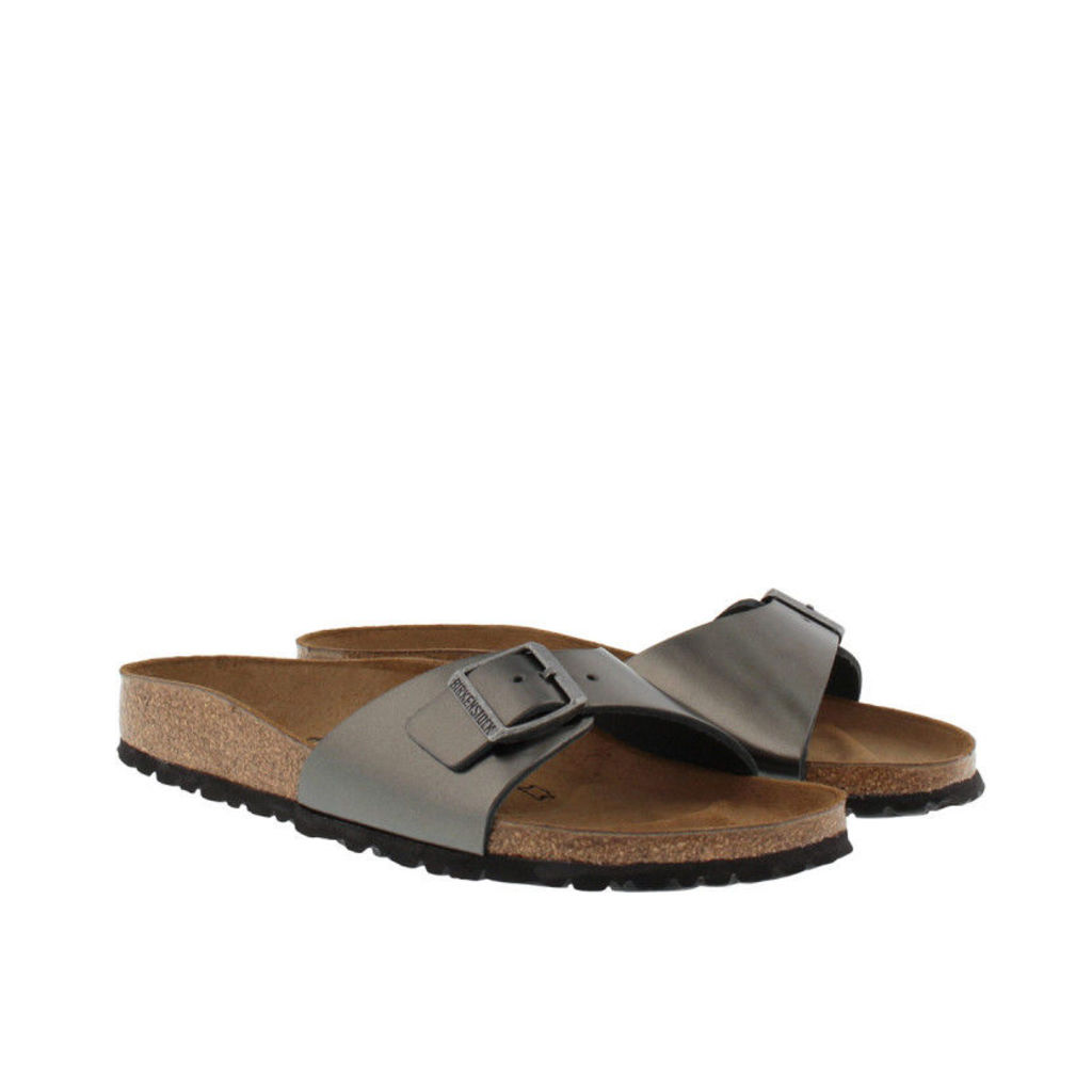 Birkenstock Sandals - Madrid BS Narrow Fit Sandal Metallic Anthracite - in grey - Sandals for ladies