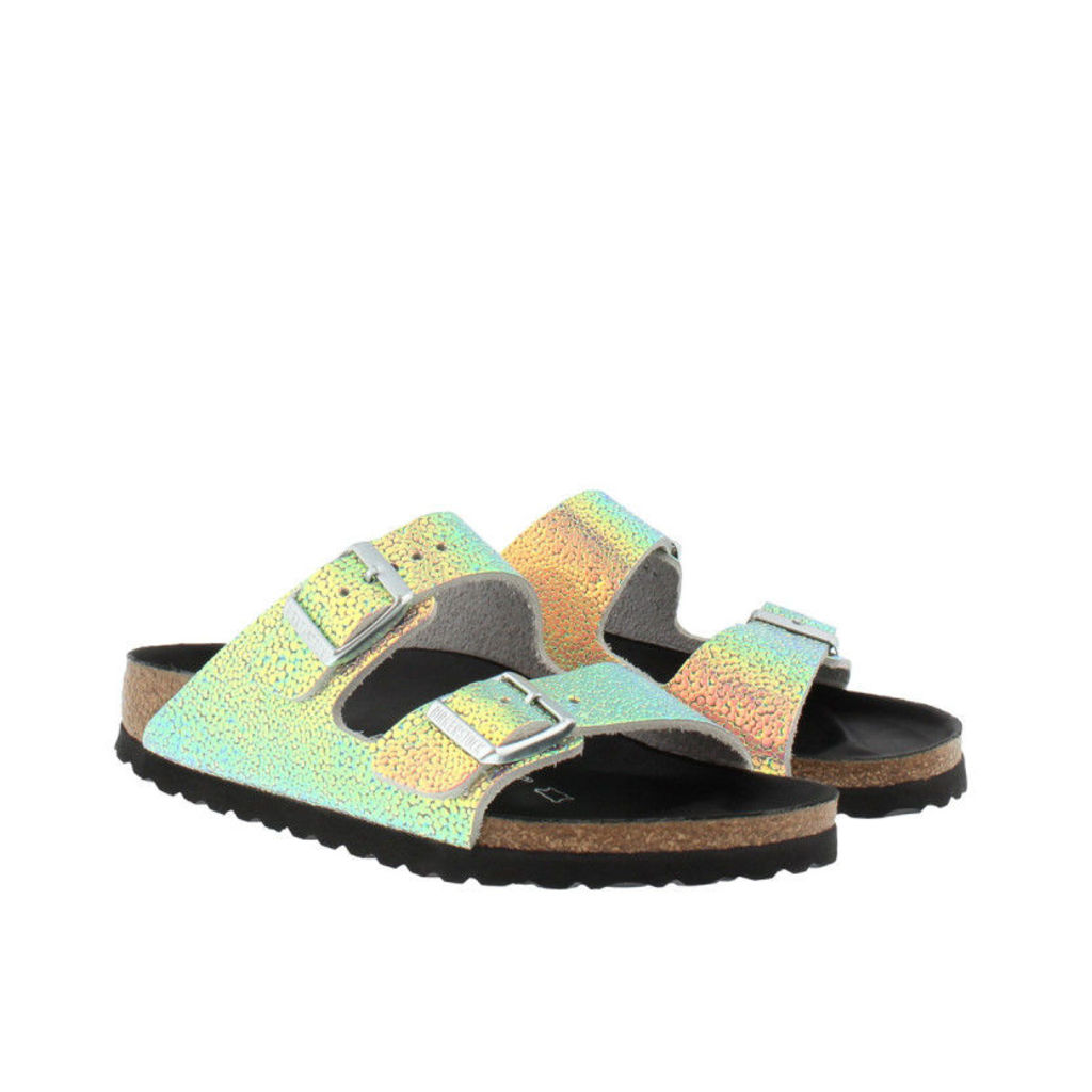 Birkenstock Sandals - Arizona BS Narrow Fit Sandal Ombre Pearls Silver Black - in silver - Sandals for ladies
