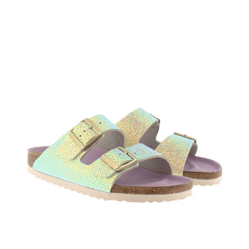 Birkenstock Sandals - Arizona BS Narrow Fit Sandal Ombre Pearls Silver Orchid - in silver - Sandals for ladies