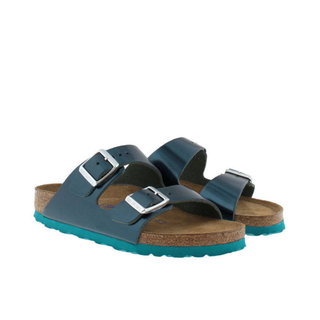 Birkenstock Sandals - Arizona BS Narrow Fit Sandal Metallic Green - in green - Sandals for ladies