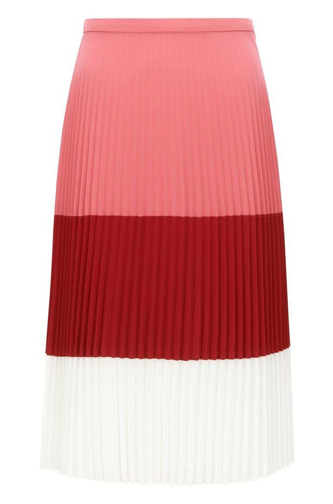 Regular-fit plissée skirt in lightweight fabric