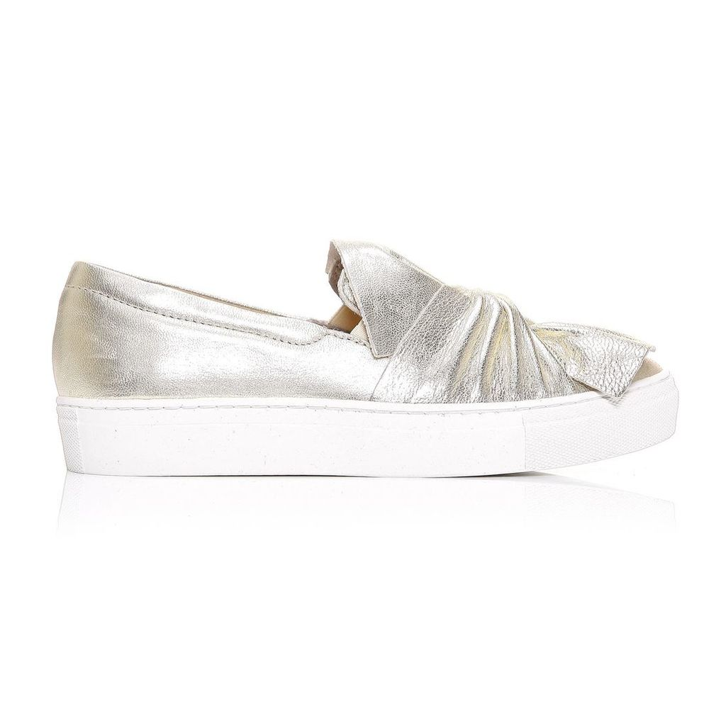 Moda in Pelle Annie Champagne Low Leisure Shoes