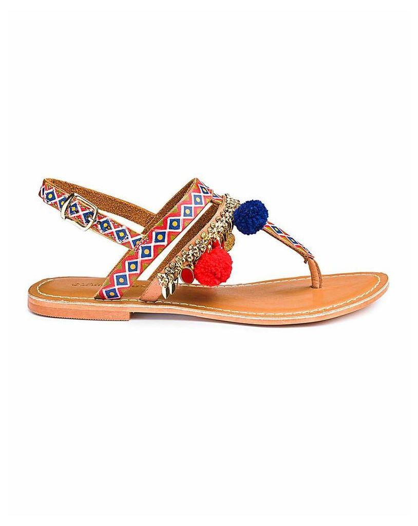 Glamorous Pom Pom Sandal D Fit