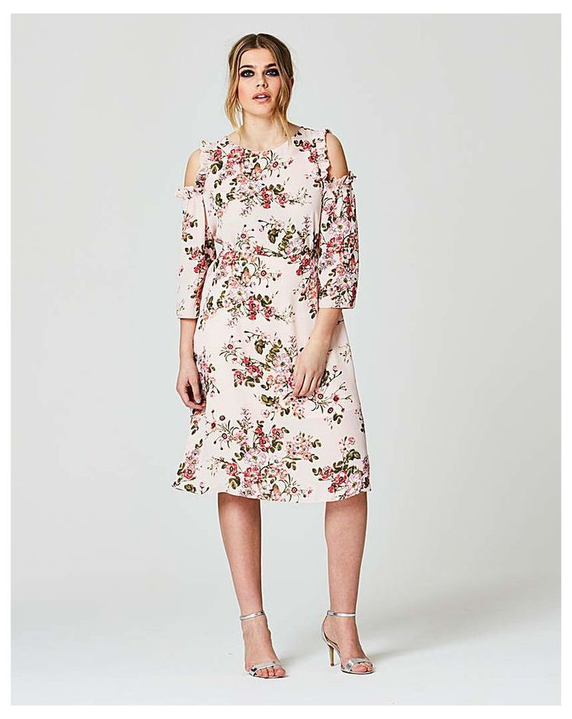 Simply Be Floral Cold Shoulder Midi