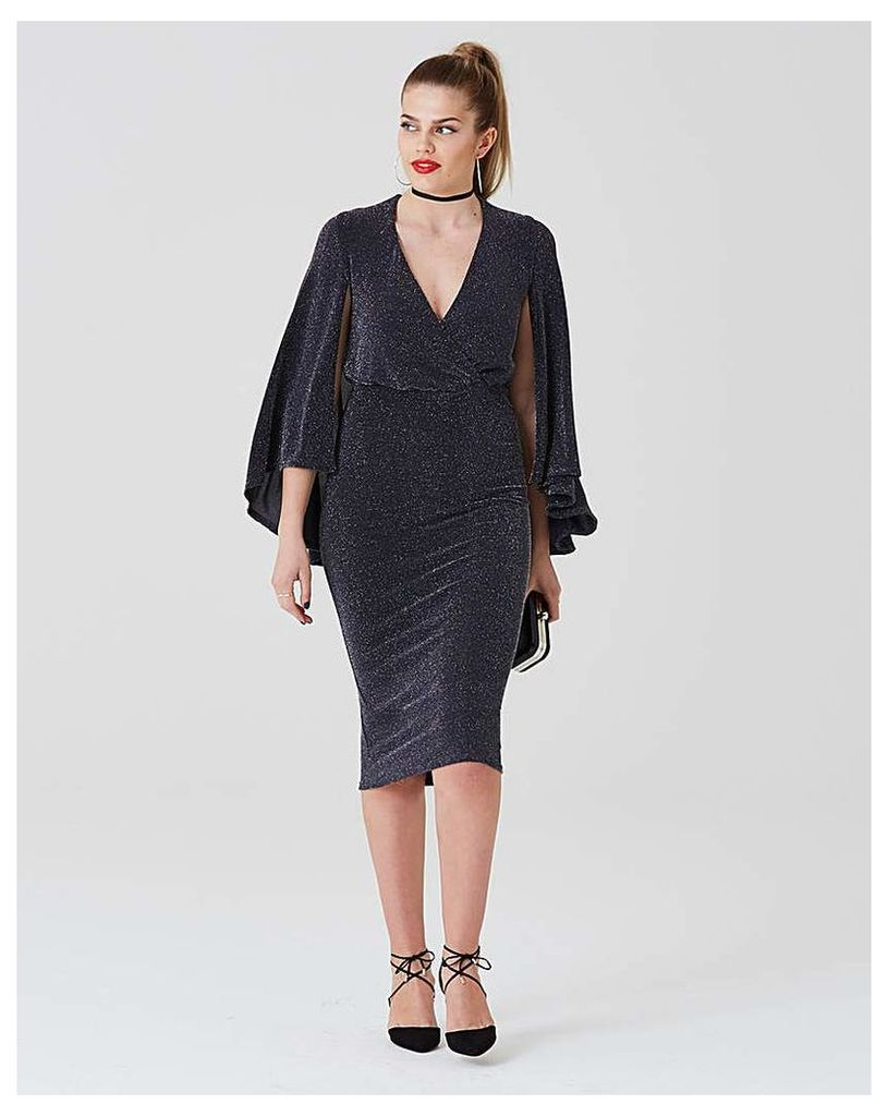 Simply Be by Night Cape Midi Dress