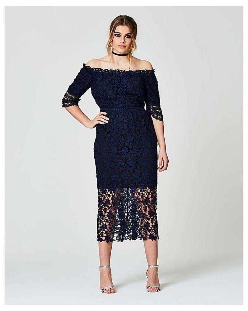 Simply Be Lace Bardot Dress