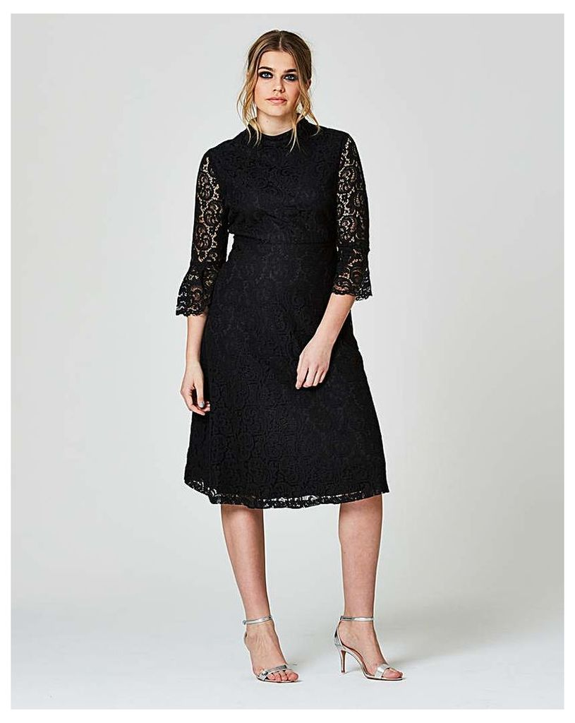 Simply Be Fluted Lace Swing Dress