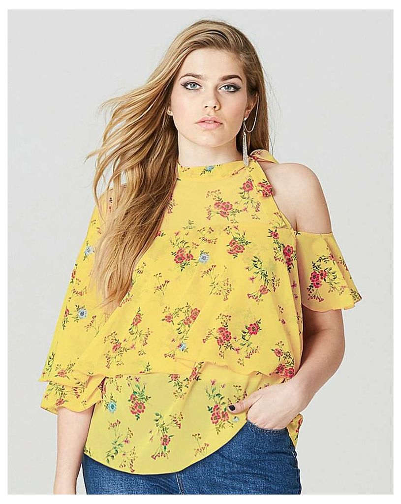 Simply Be One Shoulder Ruffle Blouse