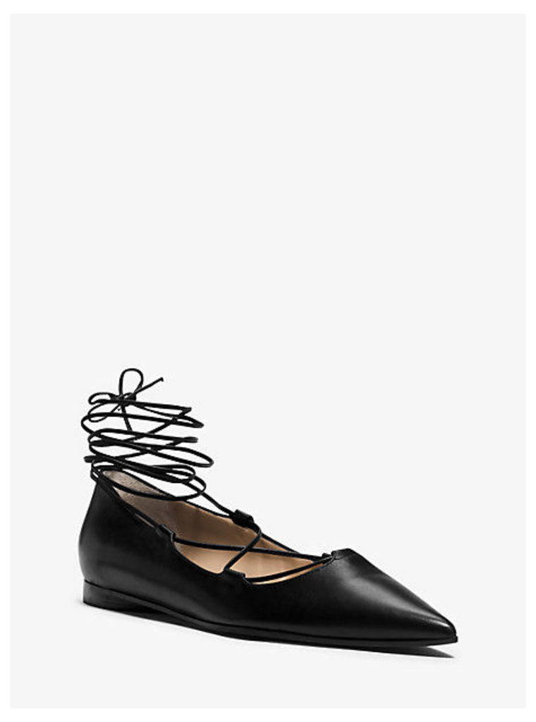 Kallie Leather Lace-Up Flat