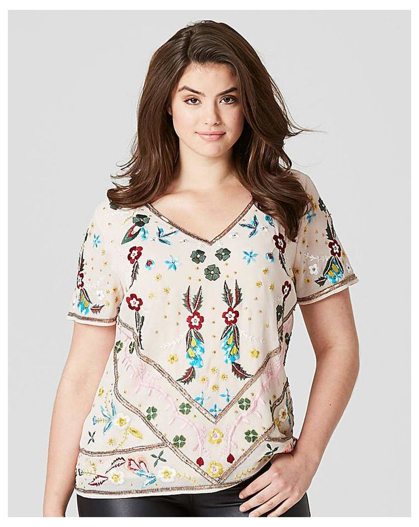 Frock and Frill Beaded Blouse