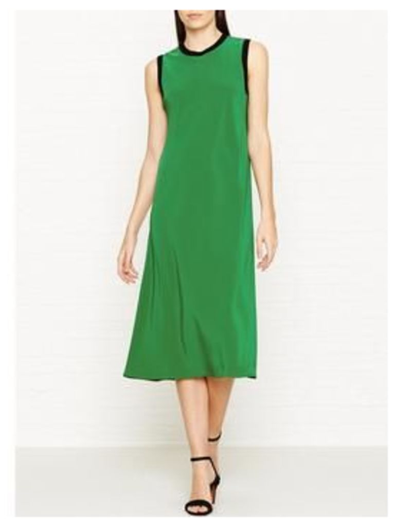 Dkny Sleeveless Slip Dress With Seaming Detail - Green, Size L