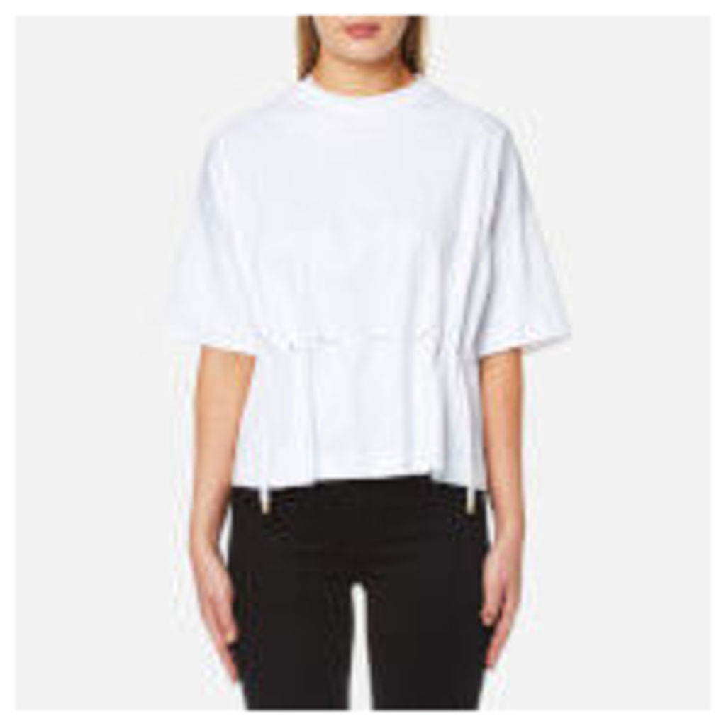 KENZO Women's Pima Cotton Jersey Drawstring T-Shirt - White