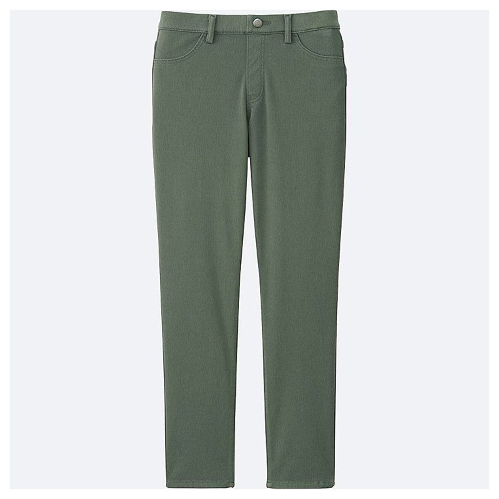 Uniqlo  Women Cropped Leggings Trousers - Green - Xxl