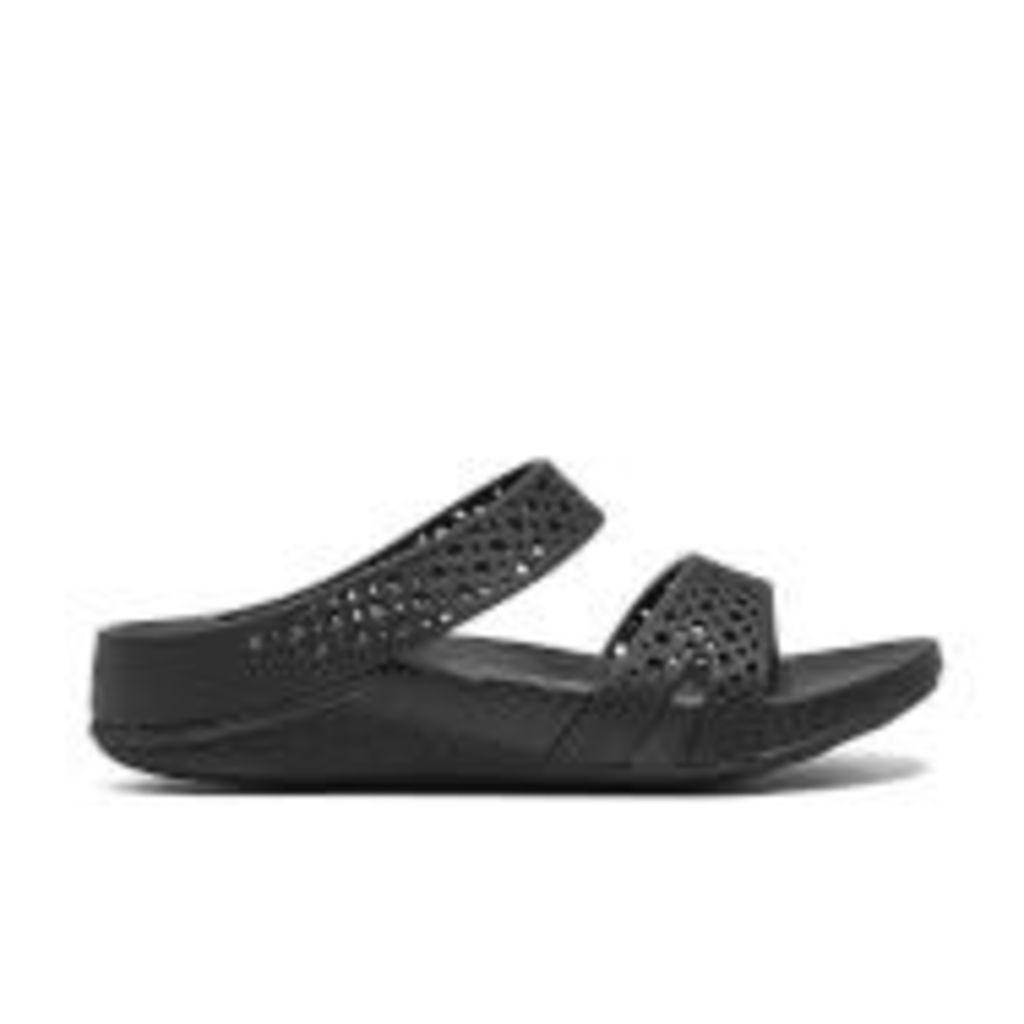 FitFlop Women's Welljelly Z-Slide Sandals - All Black