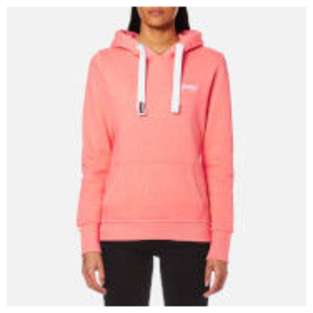 Superdry Women's Orange Label Primary Hoody - Neon Pink Snowy Marl