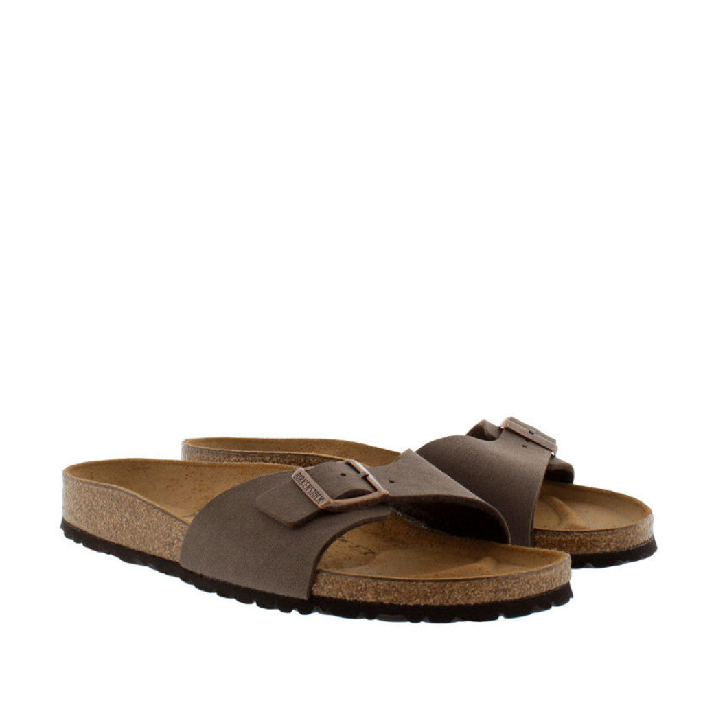 Birkenstock Sandals - Madrid BS Nubuk Narrow Fit Sandal Mocca - in brown - Sandals for ladies