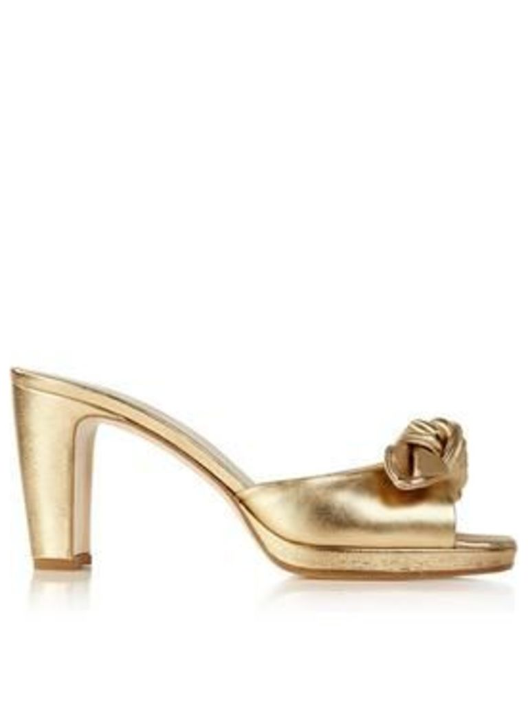 Hobbs Ophelia Bow Detail Mules - Gold